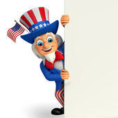Uncle sam with sign — Stock Photo