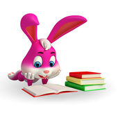 Easter Bunny is reading a book — Foto Stock