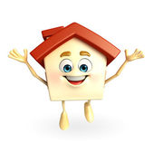 House with happy pose — Stock fotografie