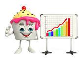 Ice Cream with display board — Stock Photo