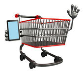 The trolly with mobile — Stock Photo