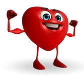 Heart Shape character — Zdjęcie stockowe