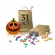 Gifts on halloween. (2) — Stock Vector