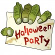 Halloween party (3) hand of zombi . — Stock Vector