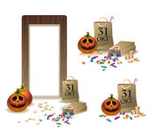 Gifts for happy Halloween. Set for Russia. — Stock Vector