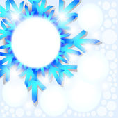 Snowflake abstract background. — Stock Vector