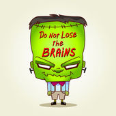 Frankenstein. Do not lose the brains. — Stock Vector