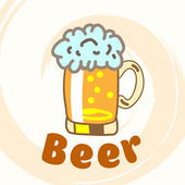 Glass of beer. — Vector de stock
