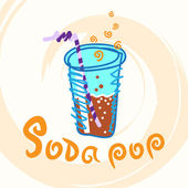 Soda pop. — Vector de stock