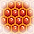 Bee honey cells. Background 2. — Image vectorielle