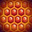 Bee honey cells. Background 1. — Vettoriali Stock