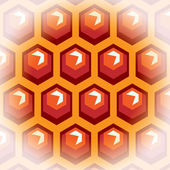 Bee honey cells. Background 2. — Vettoriale Stock