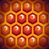 Bee honey cells. Background 1. — Vettoriale Stock