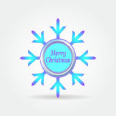 Snowflake badge label button 2. — Stock Vector