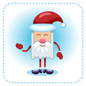 Funny Santa Claus. — Stock Vector