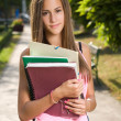 Gorgeous young student. - Stockfoto