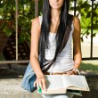 Gorgeous young brunette student. — Stock Photo #12508456