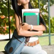 Gorgeous young brunette student. — Stock Photo #12508472
