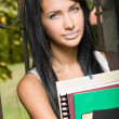 Stock Photo: Gorgeous young brunette student.