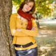 Portrait of a colorful fall fashion girl. — Stock Photo #12537982