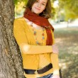 Portrait of a colorful fall fashion girl. — Stock Photo #12537988
