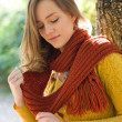 Dreamy young autumn fashion woman. — Stock Photo #12538023