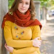 Portrait of a colorful fall fashion girl. — Stock Photo #12538122