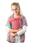 Gorgeous confident young student woman. — Stock Photo