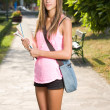 Beautiful teen student girl. — Stock Photo #13438816