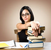 Gorgeous young student woman. — Stock Photo