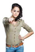 Gesturing young brunette. — Foto Stock