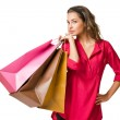 Gorgeous young shopper. — Stock Photo #14949283