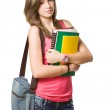 Confident young student girl. — Stock Photo