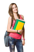 Cute young attractive student. — Foto Stock