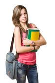 девушка уверенно молодой студент. — Стоковое фото
