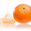 Fresh ripe mandarin. — Stock Photo