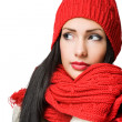 Winter fashion brunette beauty. — Stock Photo #17447651