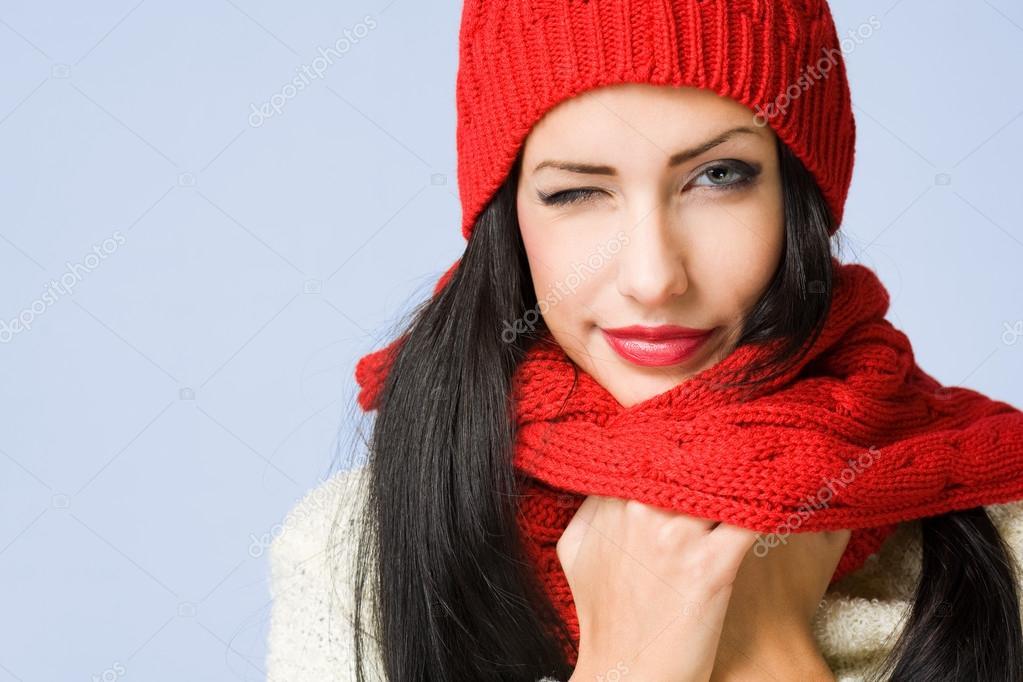 冬天可爱美女图片