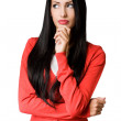 Young business woman in pensive pose. — Stock Photo #18007639
