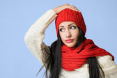 Colorful winter fashion. — Stock Photo
