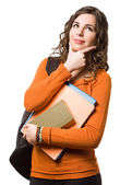 Smiling friendly young female student. — Stock Photo