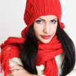 Cute winter fashion girl. — Stockfoto