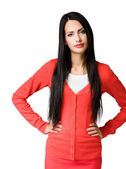 醒目的黑发美女slående brunett skönhet. — Stockfoto