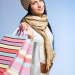 Elegant young woman shopper. — Stock Photo #19037953