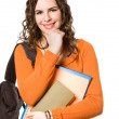 Young pretty student girl. — Stock Photo