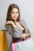Attractive young shopper. — Stock Photo