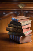 Mysterious looking anceint books. — Stock Photo
