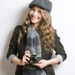 bonita jovem artista — Foto Stock
