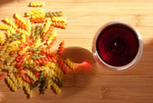 Italské těstoviny barvy. — Stock fotografie