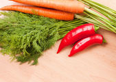 Healthy fresh raw Ingredients. — Stock Photo